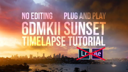 6dmkii sunset timelapse tutorial