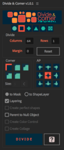 Divide and Corner timeslice plugin