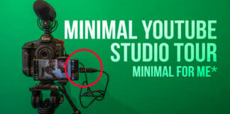 Minimal youtube studio tour